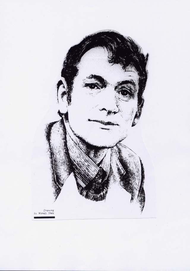 Sketch of Michael Hartnett (1941-99) by Wendy O'Shea